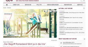 """Neues vom GDV: """"Der Begriff Ruhestand führt ja in die Irre"""""""